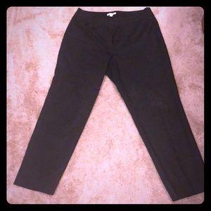 Ann Taylor Loft Julie Black Work Dress Pants 10